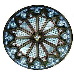 Eglise Saint Michel de Notre Dame de Bussière Badil - magnifique rosace du XVe