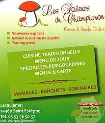 Au Champignon 24360 Saint Estèphe - 05 53 56 50 57