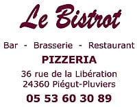 Le Bistrot 24360 Piégut Pluviers - 05 53 60 30 89