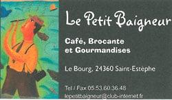 Café Brocante Le Petit Baigneur - 24360 Saint Estèphe - 05 53 60 36 48