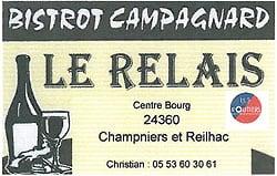 Le Relais centre bourg 24360 Champniers Reilhac - 05 53 60 30 61