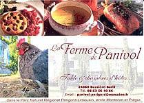 La Ferme de Panivol 24360 Bussières Badil - 05 53 56 40 66